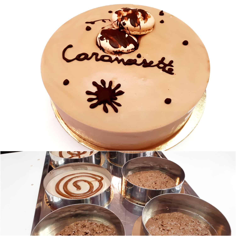 Entremets Caranoisettes Atelier Pâtisserie Lyon MyGatô