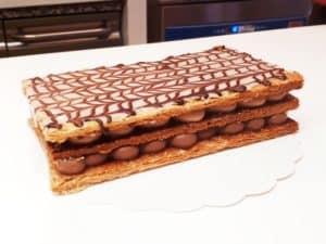 Millefeuille deux chocolats Cours gourmand Pâtisserie Lyon