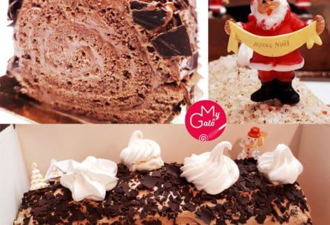 Bûche roulée mousse au chocolat cours pâtisserie fêtes MyGatô Lyon