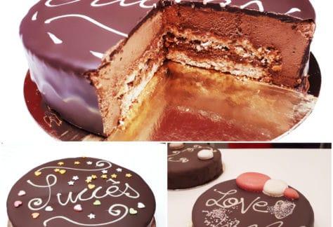 Cours de Pâtisserie Lyon Succès glaçage chocolat MyGatô